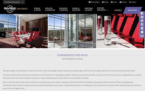 Confernce Room San Diego at Hard Rock Hotel San Diego