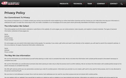 Screenshot of Privacy Page maximausa.com - Privacy Policy » Maxima Racing Oils - captured Oct. 27, 2014