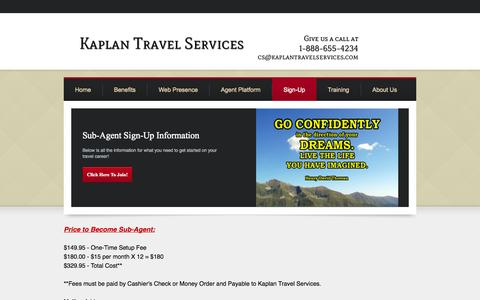 Screenshot of Signup Page mytravelcareer.com - Sign-up - My Travel Career - captured Oct. 6, 2014