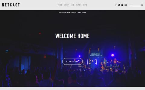 Screenshot of Home Page netcastchurch.org - NETCAST - captured Sept. 21, 2018