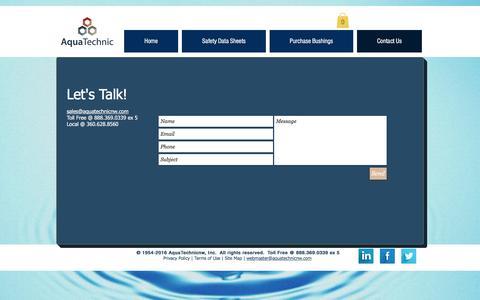Screenshot of Contact Page aquatechnicnw.com - aquatechnic | Contact Us - captured May 30, 2017