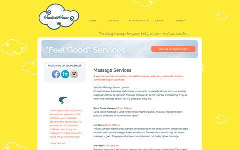Screenshot of Services Page handsathome.com - Hands At Home - captured July 16, 2018