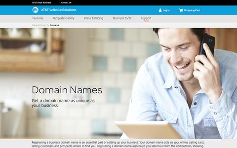 Screenshot of Pricing Page att.com - Domain Names Registration & Hosting - AT&T Website Solutions - captured May 27, 2017