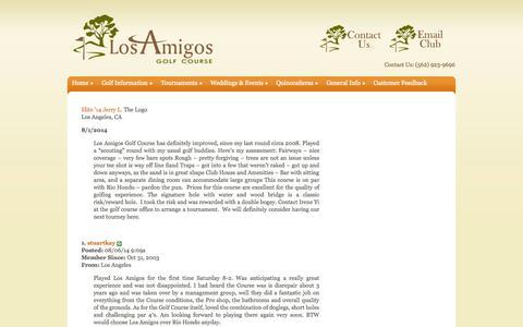 Screenshot of Press Page losamigosgc.com - Press | Los Amigos Golf Course - captured Oct. 3, 2014