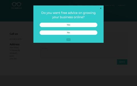 Screenshot of Contact Page thatweblook.co.uk - Contact - That Web Look - captured May 15, 2019