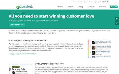 Make your business a success with excellent customer support | Freshdesk Help desk for Start-ups