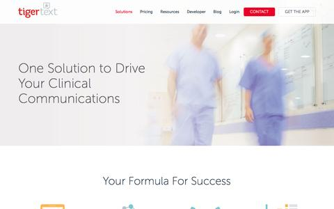 Integrated Solutions for Clinical Communications | TigerText