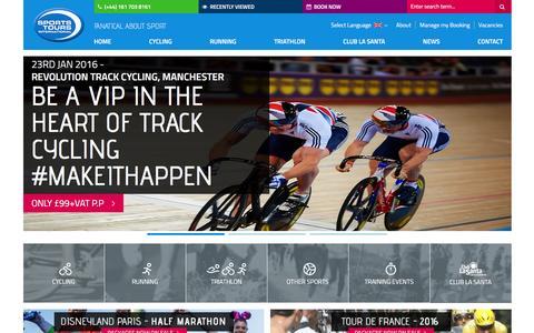 Screenshot of Home Page sportstoursinternational.co.uk - Sports Tours International - Fanatical About Sport - captured Jan. 16, 2016