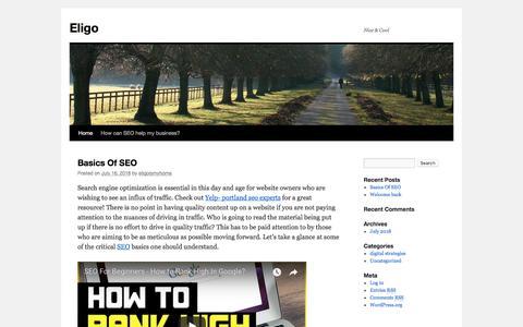 Screenshot of Home Page eligo.net - Eligo | Nice & Cool - captured July 16, 2018