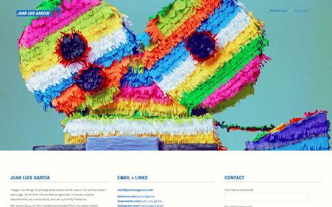 Screenshot of Contact Page juanluisgarcia.com - Contact | Juan Luis Garcia Movie Poster Design & Photography - captured Jan. 27, 2016