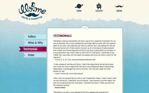 Screenshot of Testimonials Page illo.me - Testimonials   Illo.me - captured Oct. 6, 2014