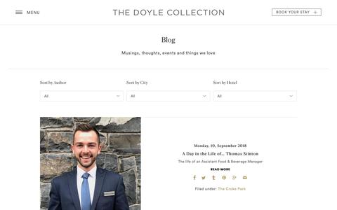 Screenshot of Blog doylecollection.com - Our Blog | The Doyle Collection - captured Oct. 14, 2018