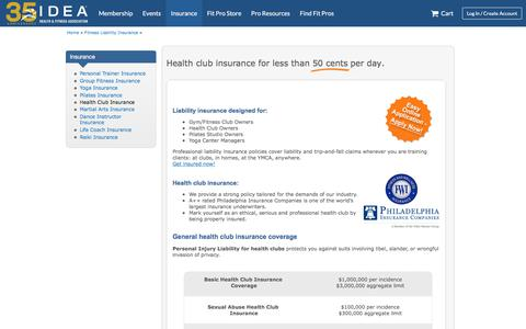 Health Club Insurance