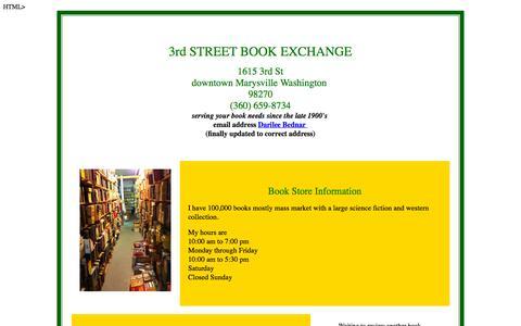 Screenshot of Home Page thirdstbooks.com - 3rd St Book Exchange, Marysville WA - captured Oct. 12, 2015