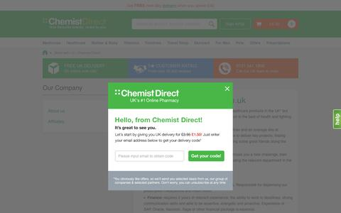 Screenshot of Jobs Page chemistdirect.co.uk - Work with Us - Chemist Direct - captured May 9, 2017