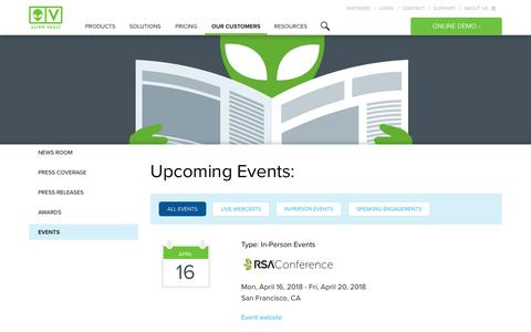 Events and Conferences | AlienVault
