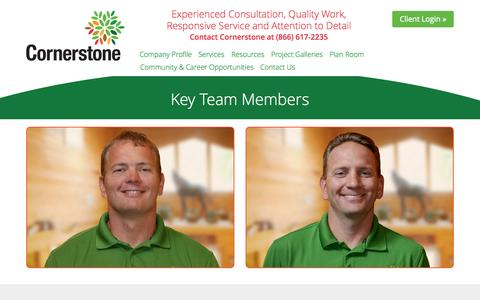 Screenshot of Team Page cornerstonesolutionsgroup.com - Key Team Members | Cornerstone Solutions Group - captured July 25, 2015