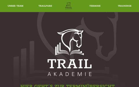 Screenshot of Home Page trail-akademie.de - Startseite - Trail Akademie - captured Oct. 21, 2018