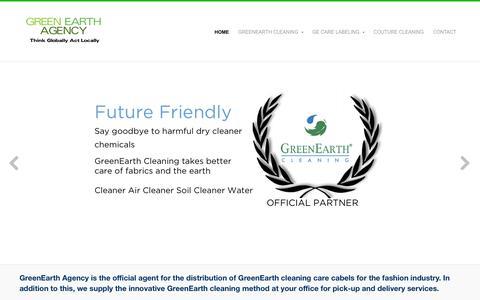 Screenshot of Home Page greenearthagency.com - Green Earth Agency - captured Sept. 30, 2014