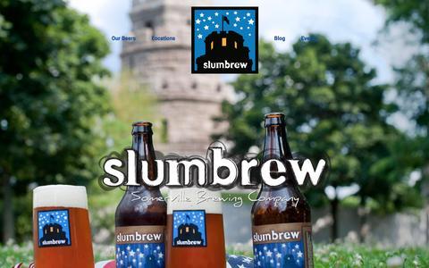 Screenshot of About Page slumbrew.com - About | Slumbrew - captured Feb. 24, 2016