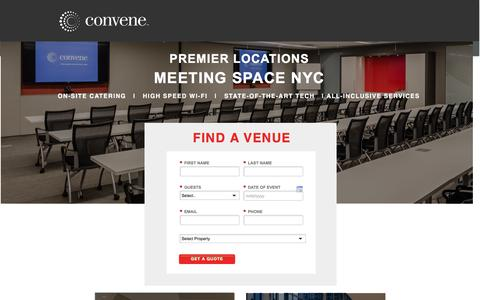 Screenshot of Landing Page convene.com - Meeting Rooms & Conference Space in New York City - captured May 5, 2016