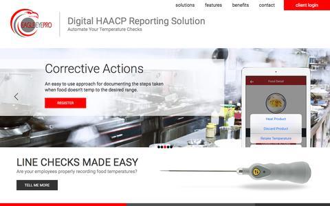 Screenshot of Home Page tde-inc.com - EagleEyePro - captured Dec. 2, 2016