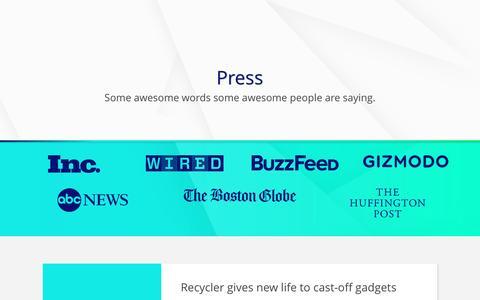 Screenshot of Press Page gizmogul.com - Press - Gizmogul.com - captured Jan. 4, 2017