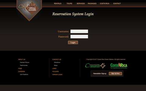 Screenshot of Login Page costaricadreammakers.com - Login - Costa Rica Dream Makers - captured May 22, 2017