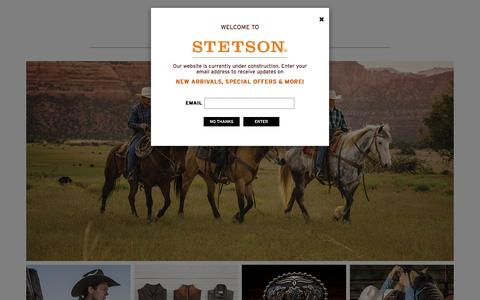 Stetson Hat Company | Stetsons Western Hats & Boots