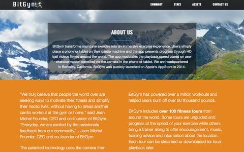 Screenshot of Press Page bitgym.com - Press - captured Nov. 20, 2016