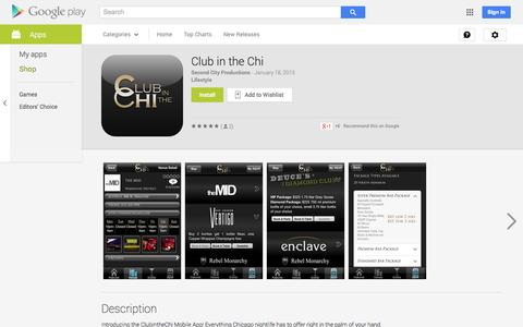 Screenshot of Android App Page google.com - Club in the Chi - Android Apps on Google Play - captured Oct. 22, 2014