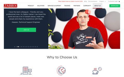 Screenshot of Jobs Page zabbix.com - Career - Zabbix - captured Aug. 8, 2019