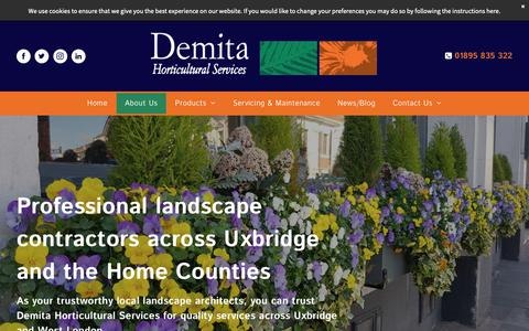 Screenshot of About Page demita.co.uk - About Us | Landscape Architects | Demita Horticultural Services - captured Nov. 13, 2018