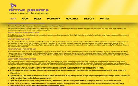 Screenshot of Terms Page activeplastics.co.nz - Active Plastics - Plastic Component Manufacture - captured May 29, 2017