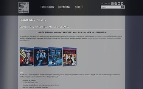 Screenshot of Press Page millcreekent.com - Mill Creek Entertainment: Mill Creek Entertainment - captured Sept. 23, 2014