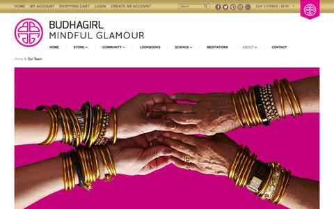 Screenshot of Team Page budhagirl.com - Our Team - captured Jan. 7, 2016
