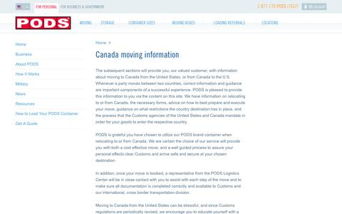 Moving in Canada or Immigrating to Canada