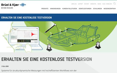 Screenshot of Trial Page bksv.com captured Oct. 19, 2018
