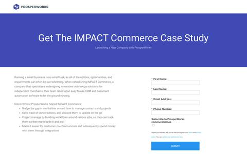 Screenshot of Landing Page prosperworks.com - Prosperworks | Get The Photo Booth International Case Study - captured March 31, 2018