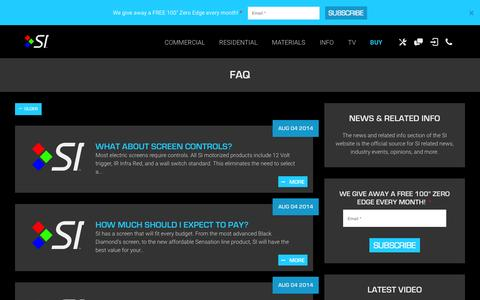 Screenshot of FAQ Page screeninnovations.com - FAQ Archives | Screen Innovations - captured Aug. 2, 2015
