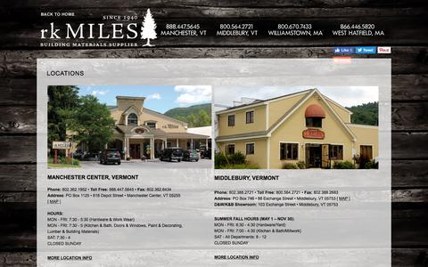 Screenshot of Locations Page rkmiles.com - Locations- rk Miles - captured Oct. 26, 2017