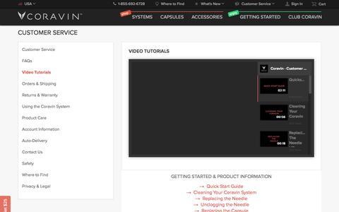 Coravin | Video Tutorials