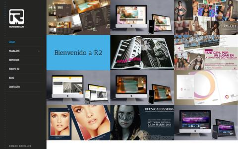 Screenshot of Home Page render2.com - Agencia de Diseño y Marketing Online - captured Jan. 27, 2015
