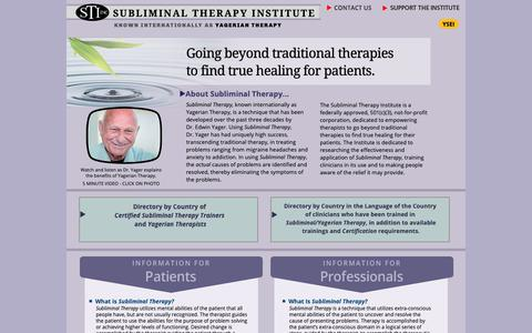 Screenshot of Home Page stii.us - Subliminal Therapy Institute - captured Dec. 21, 2018