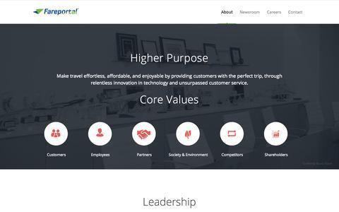 Screenshot of Team Page fareportal.com - Fareportal powers the technology of travel.   | Leadership - captured Sept. 19, 2014