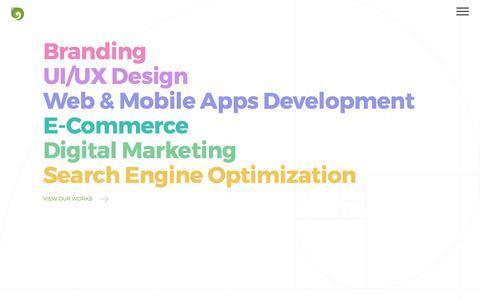 Screenshot of Services Page digiora.com - UI/UX Design | App Design and Development | Ecommerce | Digital Marketing - captured June 4, 2017