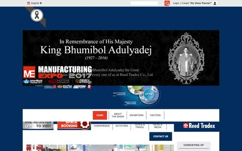 Screenshot of Home Page manufacturing-expo.com - Home - Manufacturing Expo - captured Jan. 27, 2017
