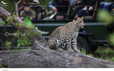Screenshot of Contact Page andbeyond.com - Contact Us | Travel to Africa, Asia and South America | andBeyond - captured July 31, 2018