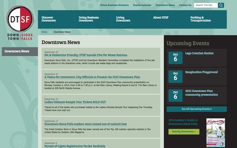 Screenshot of Press Page dtsf.com - Downtown News | Downtown Sioux Falls - captured Oct. 5, 2014