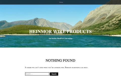 Screenshot of Blog heinmor.co.za - Heinmor Wire Products | Just another WordPress.com weblog - captured Sept. 28, 2018